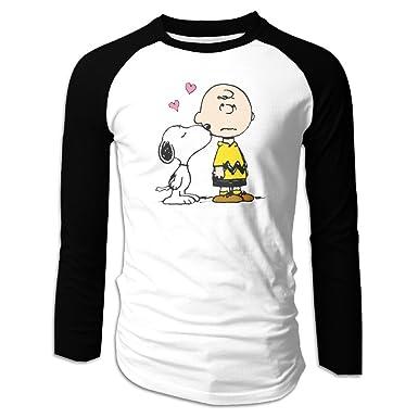 peanuts snoopy charlie brown christmas mens casual long sleeve baseball tee shirts
