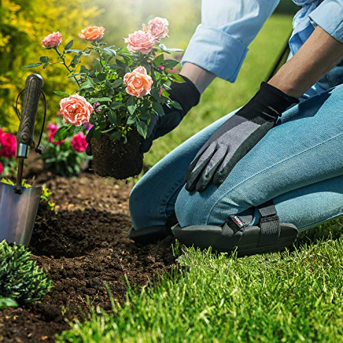 Foam knee pads for easy comfort when moving from plant to plant