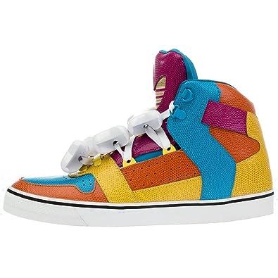 8064d968d47c95 adidas Jeremy Scott JS Os Multicolore Homme Cuir High Chaussures/baskets  D65207 - multicolore,