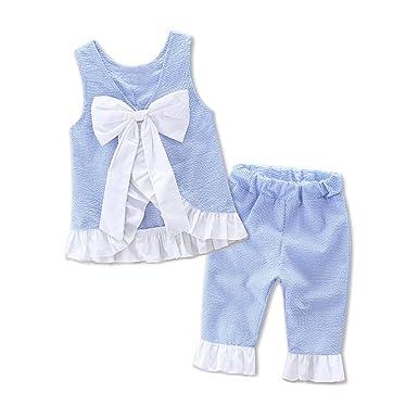 d1a28ea988ef5 Yiding - Ensemble - Bébé (fille) 0 à 24 mois Bleu bleu 90cm  Amazon ...