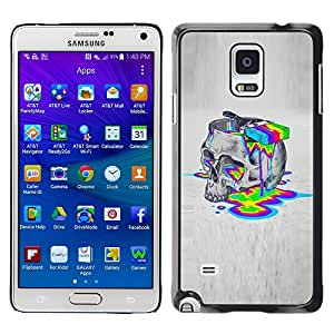 A-type Colorful Printed Hard Protective Back Case Cover Shell Skin for Samsung Galaxy Note 4 IV / SM-N910F / SM-N910K / SM-N910C / SM-N910W8 / SM-N910U / SM-N910G ( Paint Colors Lsd Drugs Skull Deep Acid )