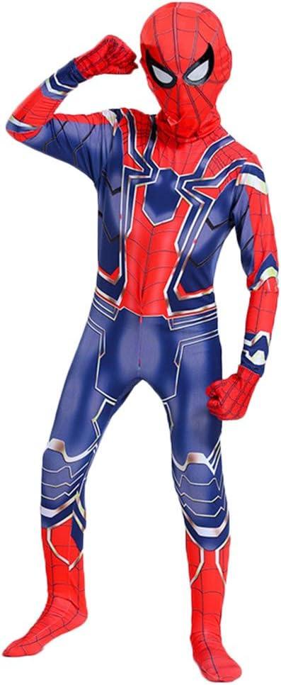 CAKGER Adultos Niños superhéroe Spiderman Disfraz de Halloween ...