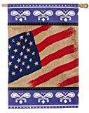 Patriotic Bandana Burlap House Flag Review