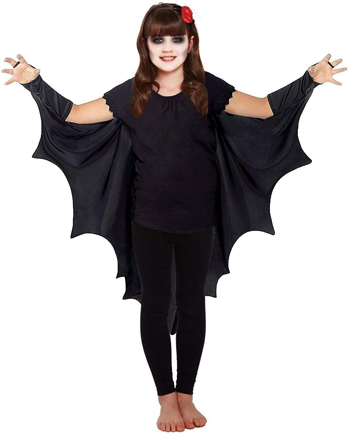 Child/'s Black Bat Fancy Dress Costume Great For Book Week