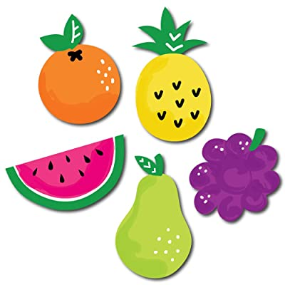 Big Dot of Happiness Tutti Fruity - DIY Shaped Frutti Summer Baby Shower or Birthday Party Cut-Outs - 24 Count: Toys & Games
