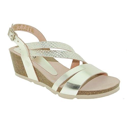 Sandalia cuña YOKONO Cadiz 087 Oro (40): Amazon.es: Zapatos ...