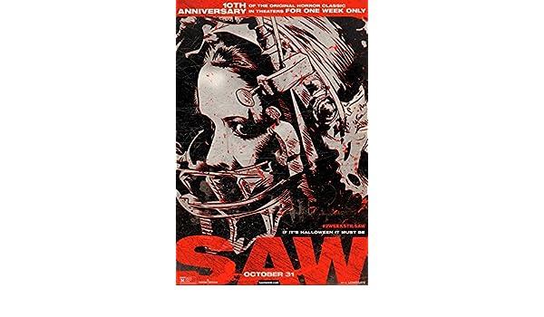 SAW 10th ANNIVERSARY 13.5x20 PROMO MOVIE POSTER