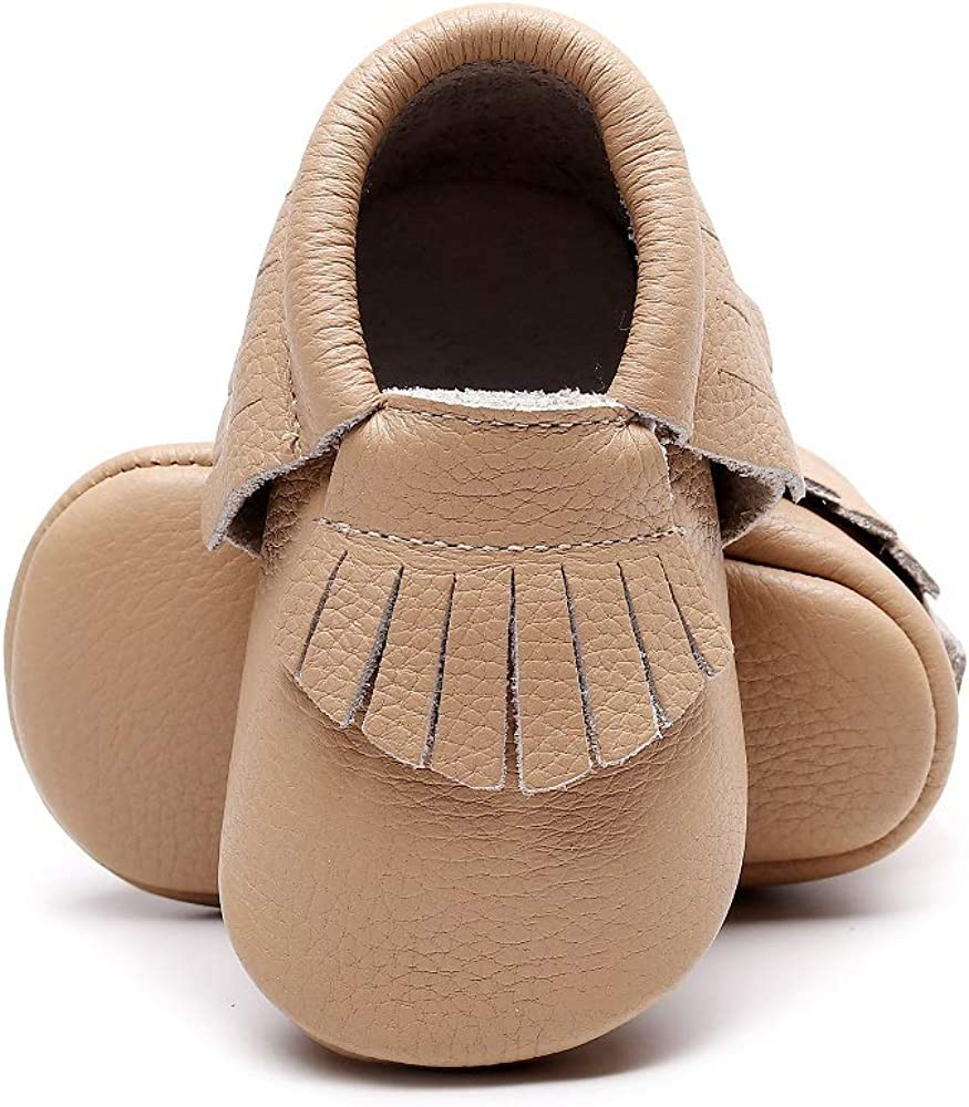Bebila Baby Moccasins with Gold Bow