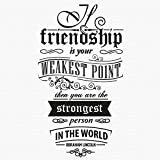 trfhjh Quotes Wall Sticker Home Art Vinyl Wall Stickers Friendship Quotes Removable House Decoration Living Room Office Art Mural Creative DIY WallpaperFor Bedroom Living Room Kids Room