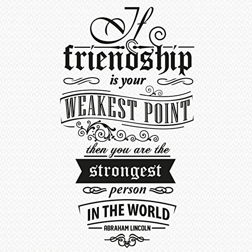 trfhjh Quotes Wall Sticker Home Art Vinyl Wall Stickers Friendship Quotes Removable House Decoration Living Room Office Art Mural Creative DIY WallpaperFor Bedroom Living Room Kids Room by trfhjh
