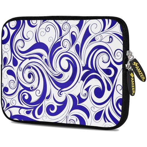 amzer-105-inch-designer-neoprene-sleeve-case-pouch-for-tablet-ebook-and-netbook-blue-elegance-amz507