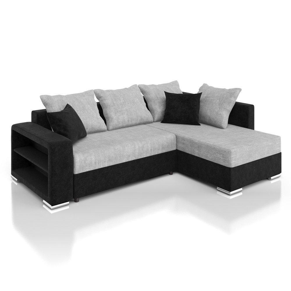 Eckcouch grau schwarz  Vicco Sofa Couch Ecksofa Houston Schlaffunktion Schlafsofa schwarz ...