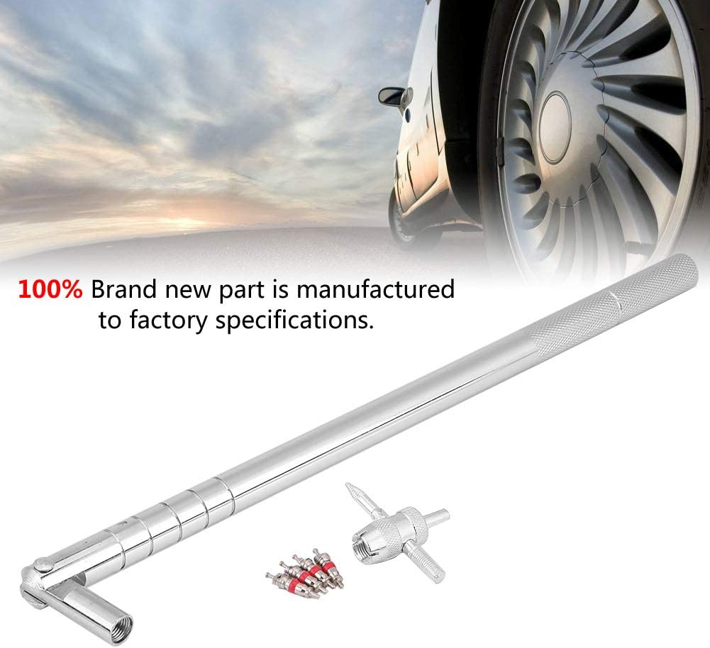 Metal White Aramox Tire Installation Tool 6Pcs Valve Stem Installation Tool Puller 10.5 Inch Car Tire Plug Core 5 kit Remover Repair