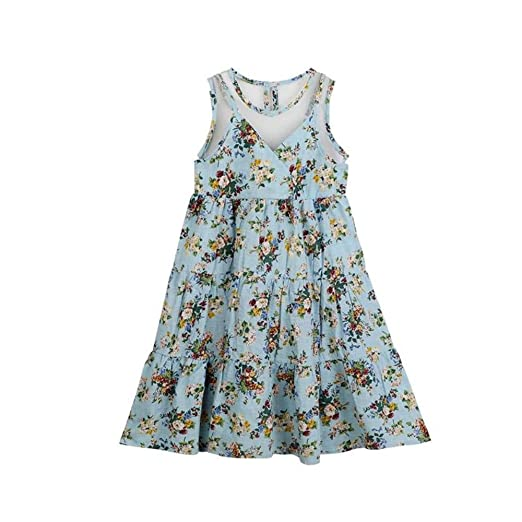 Amazon.com: ZMYJNHH Enchanting Girls Summer Bohemian Floral Dress In Sizes 4T-14: Clothing