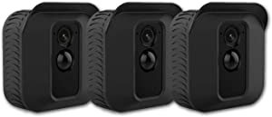 Cpaoo Silicone Skin for Blink XT2 XT Camera, (3 Pack) Soft Silicone UV Weather Resistant Protective and Camouflaged Case Cover for Blink XT2 XT Home Security Indoor Outdoor Camera, Black