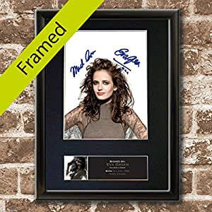 EVA GREEN Sin City Film Signed Autograph BLACK FRAMED Photo Repro Print A4 21x30cm