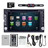 for Nissan Double Din in Dash Car DVD Player GPS Bluetooth iPod USB SD Touch Screen + Camera Included