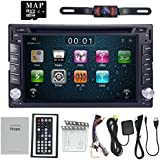 Nissan Double Din in Dash Car DVD Player GPS Bluetooth iPod USB SD Touch Screen + Camera Included