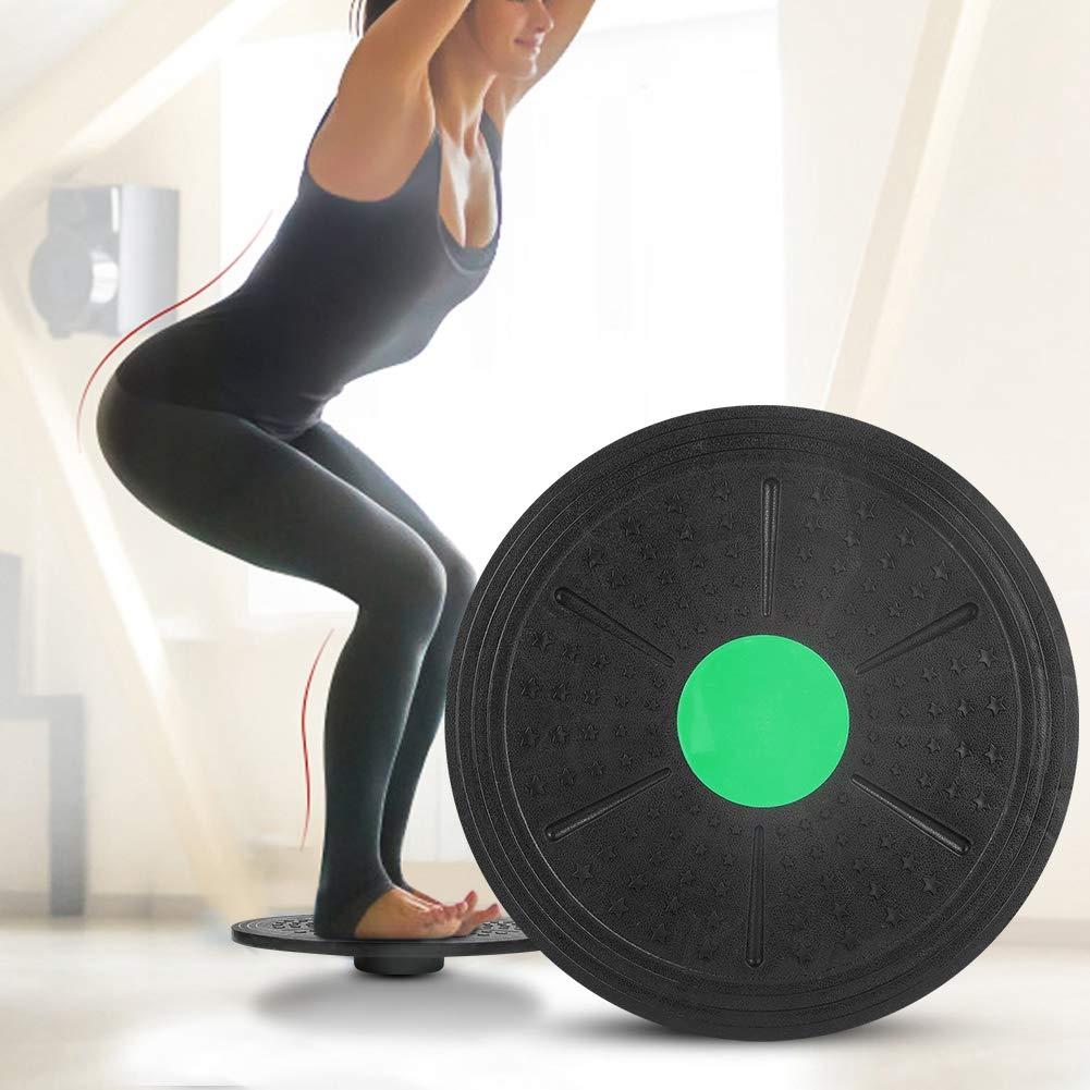 Balance Board Wobble Board Trainer Green Fitness Workout Board Concentrandosi sulla Parte Posteriore delle Gambe del Core Tihebeyan Cuscino Pilates