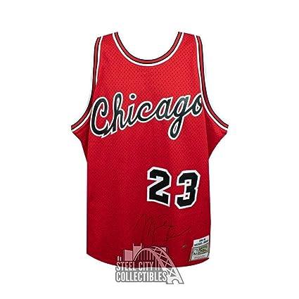 cheap for discount 5a792 e0e15 Autographed Michael Jordan Jersey - Mitchell & Ness Rookie ...