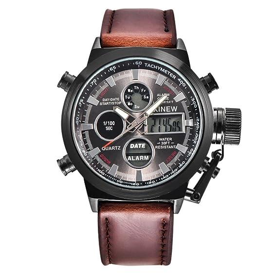 ashop Reloj de pared reloj Sport reloj hombre reloj del ejército militar de Sport del cuarzo