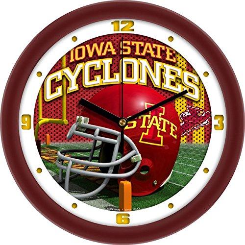 SunTime NCAA Iowa State Cyclones Helmet Wall - Cyclones Clock Wall Iowa State