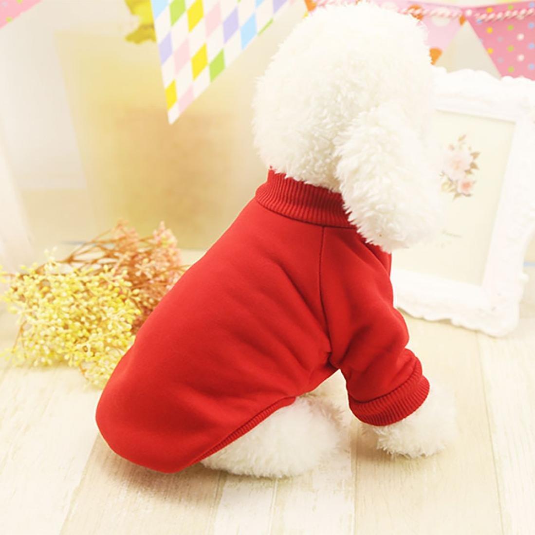 S, Rojo Ropa para mascotas Ropa de perro caliente Cachorro Ropa para mascotas Ropa de invierno para mascotas unisex Perro Gato Vestir Su/éter Mono Disfraz Alta calidad LMMVP