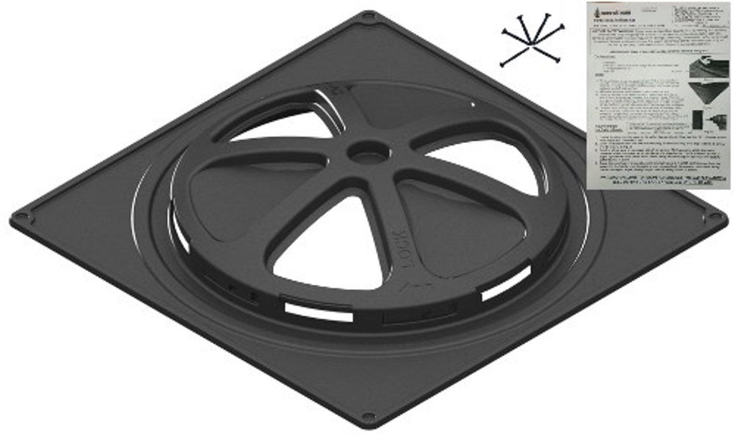Septic Tank Riser Adapter Flange with Integral Safety Barrier