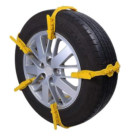 Anti Slip talla única cadena de neumáticos para la nieve, extra caliente guantes y de