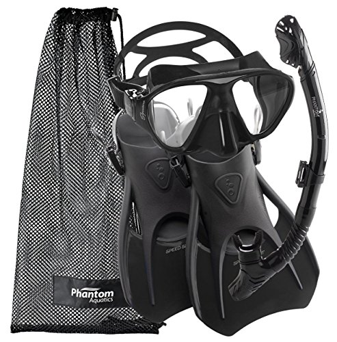 Cressi Snorkeling Scuba Diving Mask Fins Dry Snorkel Set, Mens 7-10 | Womens ... by Cressi