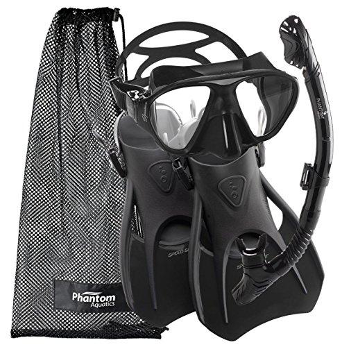 Cressi Snorkeling Scuba Diving Mask Fins Dry Snorkel Set, Mens 7-10   Womens ... by Cressi