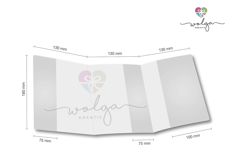 wolga-kreativ Mutterpassh/ülle Blumen 3-teilig Schwangerschaft Geschenk Idee Umschlag ohne Namen