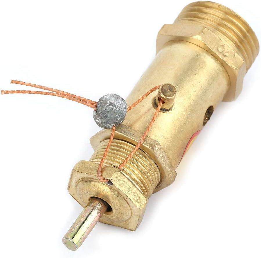 Rodamiento de presi/ón 7KG 2 V/álvula de presi/ón de liberaci/ón de seguridad Lat/ón componentes de repuesto del compresor de aire G1 V/álvula de retenci/ón del compresor de aire