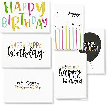Amazon.com: Paquete de 48 tarjetas de felicitación de ...