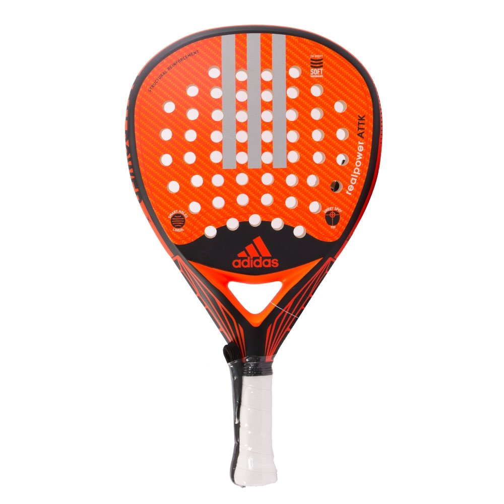 Pala de Pádel Adidas Real Power Attk LTD 1,9 Naranja: Amazon ...