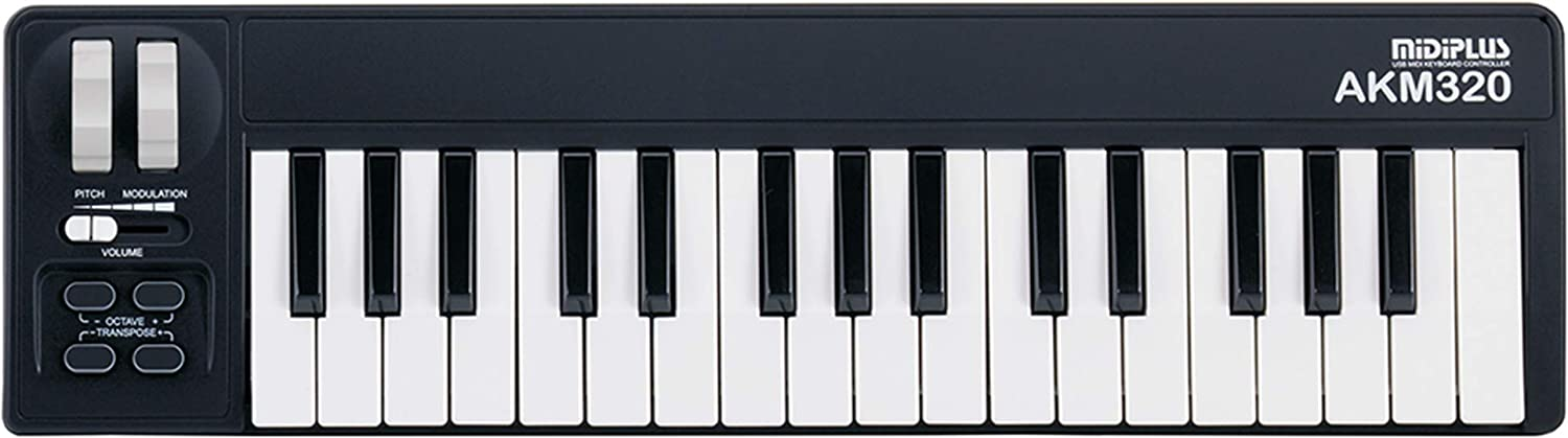 Image of AKM320 black MIDI keyboard available for checkout.