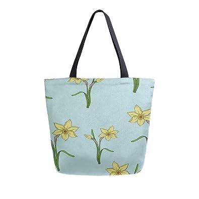 Flores amarillas de la flora portátiles de doble cara bolsas ...