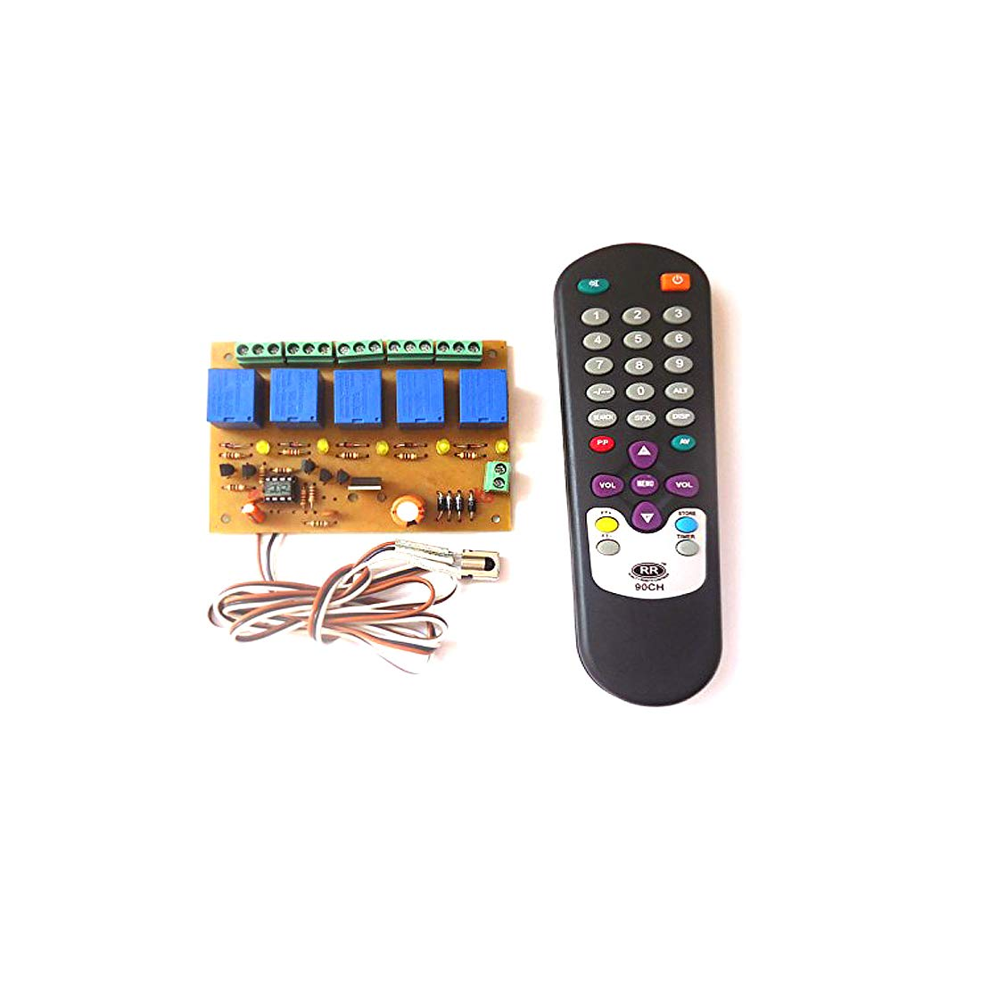 Ske Wireless Infrared Ir 5 Channel Remote Control Relay Home 12 Volt Automation Board Module Car Motorbike