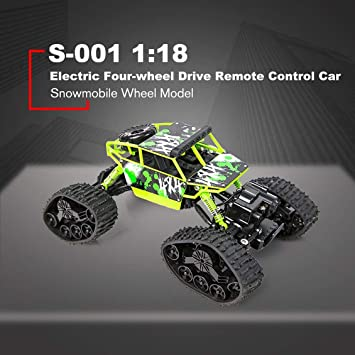 1 To 18 Electric Four-wheel Drive Snowmobile Wheel Model Remote Control Car T+ Batteriebetriebene Fahrzeuge