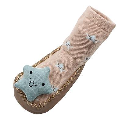 Longra Nouveau née Bébé Filles Garçons Antidérapant Chaussettes Pantoufle  Chaussures ... bd54706f1526