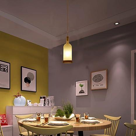 Lámparas Creativas Viento Industrial Simple Sala de Estar Luces Botellas de Vino Led lámparas de Madera del Pedestal Hotel Leisure Bar Restaurante Cafe E27 ...