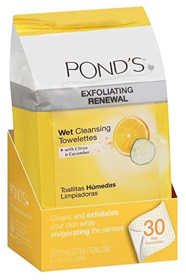Ponds Towelettes Exfoliating Renewal 30 Count (30ml) (6 Pack)