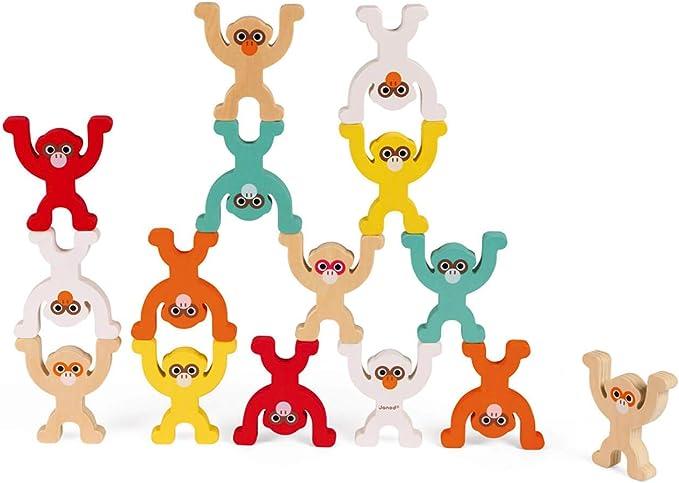JANOD- Monkey Pyramid (Bois), J02783, Multicolore: Amazon.fr: Jeux et Jouets