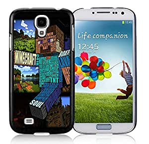 Personalized Minecraft Game Black Phone Case for Samsung Galaxy S4 I9500 i337 M919 i545 r970 l720 002