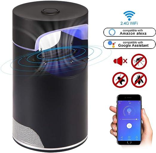 Konesky Wi-Fi Smart Mosquito Killer Protección electrónica antimosquitos, matainsectos, Bug Zapper, lámpara electrónica antimosquitos, luz LED alimentada por USB, compatible con Alexa: Amazon.es: Jardín