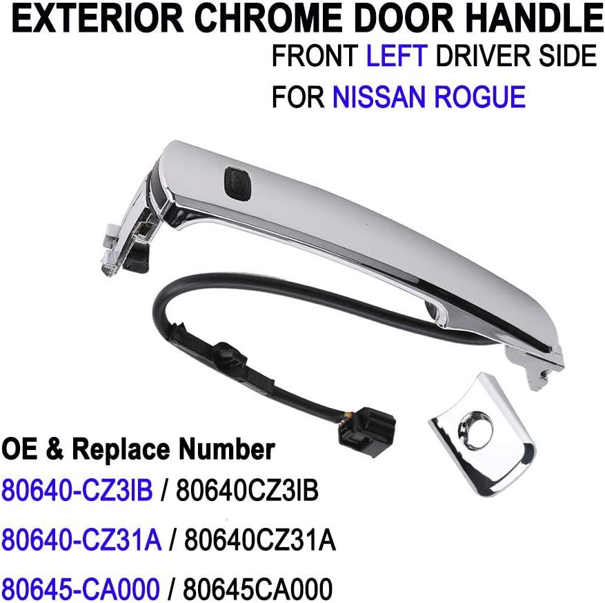 POLEMOTOR Exterior Door Handle Front Left Side 80640-CZ31B Compatible for 2010-2013 Nissan Rogue