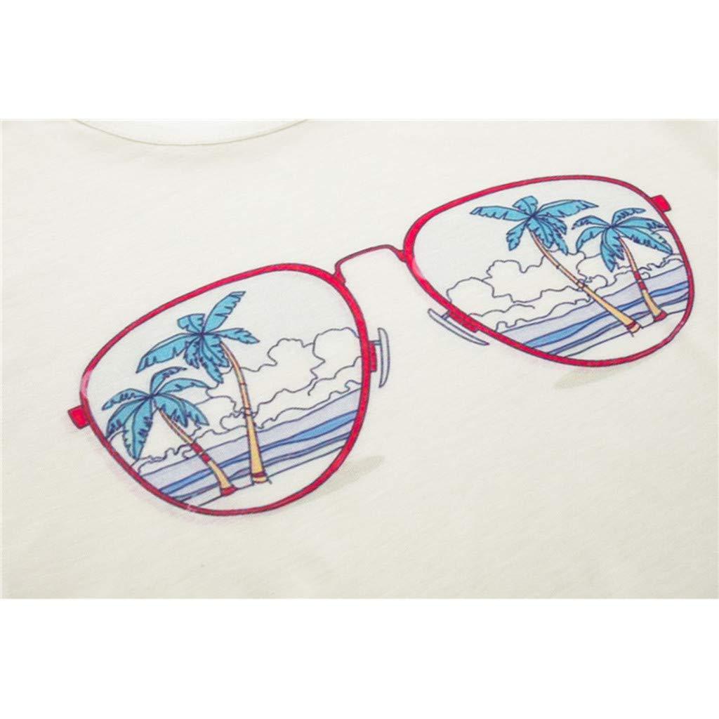 DATEWORK Womens Fashion Geometric Animal Print O-Neck Short Sleeve Loose T-Shirt Blouse
