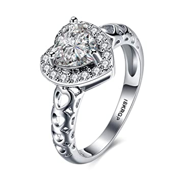 Thumby-ring Boda Romántica para Mujer Circón Anillos en Forma de Corazón en Forma de