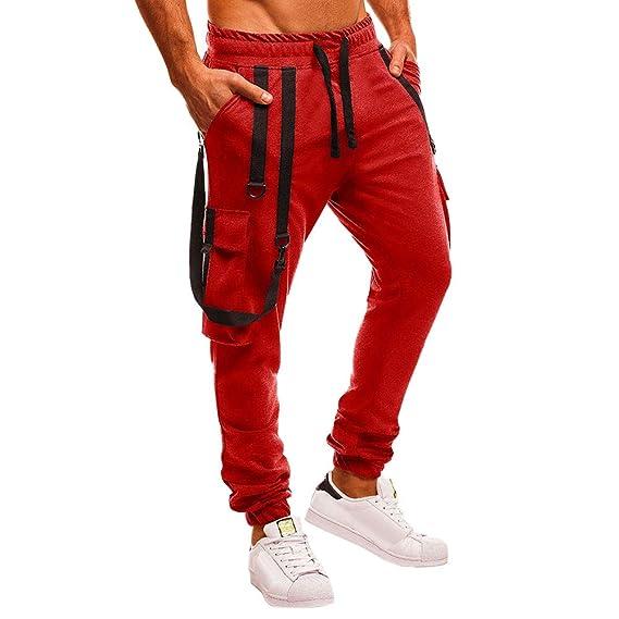 New Men/'s Slim Cuffed Hem Trousers Plain Track Sweat Pants Suit Gym Casual Sport