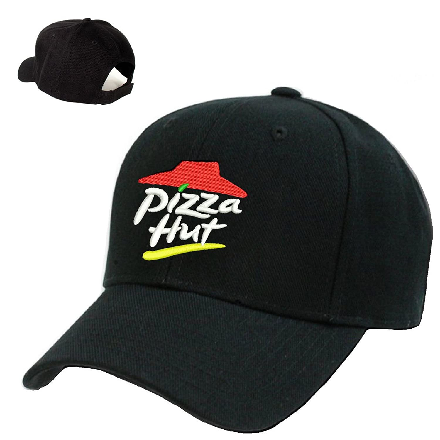 *PIZZA HUT* Black Embroidery Adjustable Baseball cap Souvenier Gift Unique  Hat at Amazon Men's Clothing store: